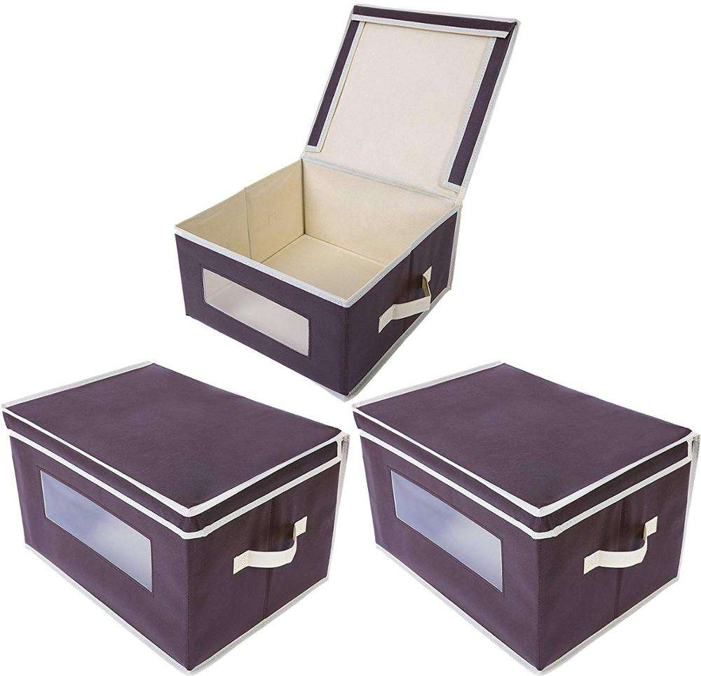 Fashion Collapsible Houseware Foldable Nonwoven decorative storage boxes