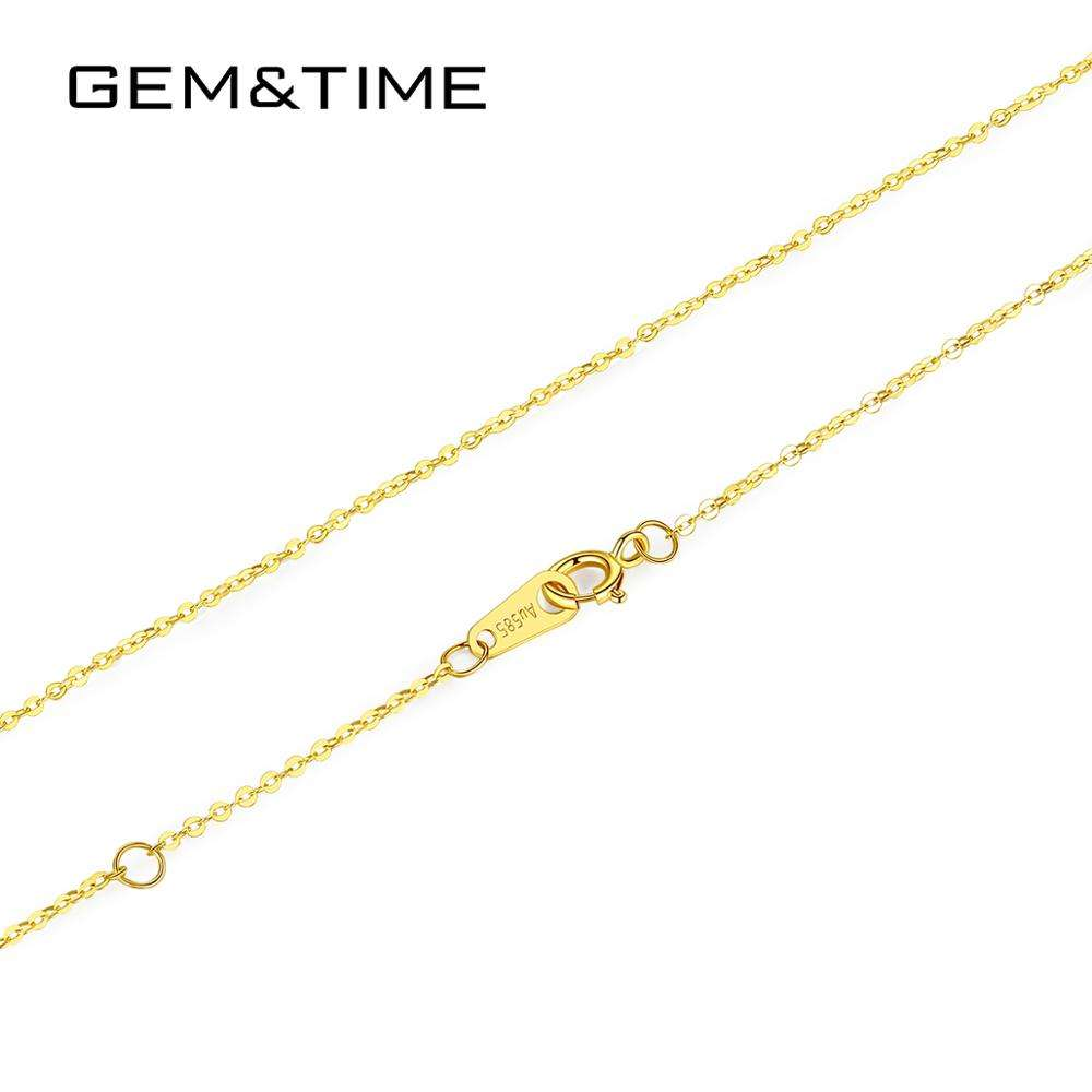 GEM&TIME 14k Gold Filled Chain Jewelry Wholesale Two Style Gold Chain Necklace Women 14k Solid Gold Chain