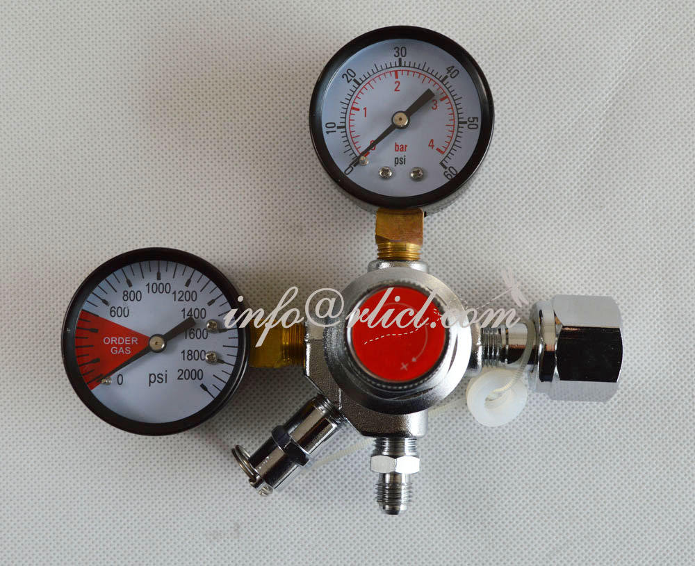 CO2 Regulator, Output high pressure range:0-2000PSI input low pressure: 0-60 PSI, Home Brewery