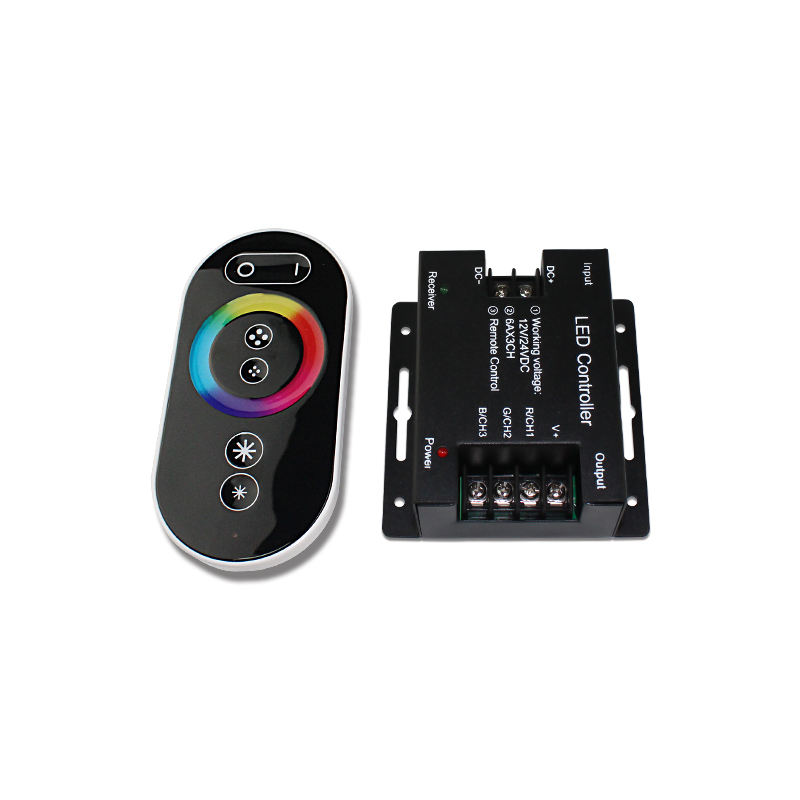 DC12V-24V 6A 18A RGB SMD5050 2835 LED Strip Light RF Wireless RF Remote Touch RGB LED Dimmer Controller