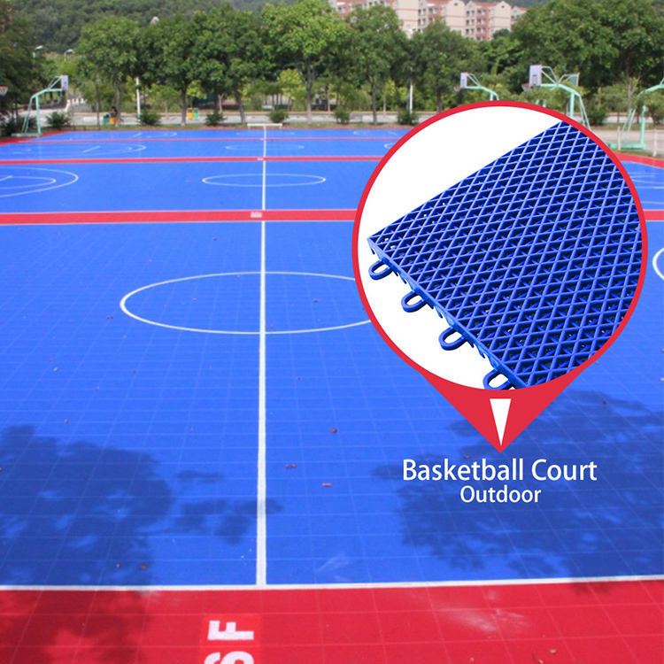 Good costs 100% new pp synthetic interlocking outdoor sport court basketball flooring