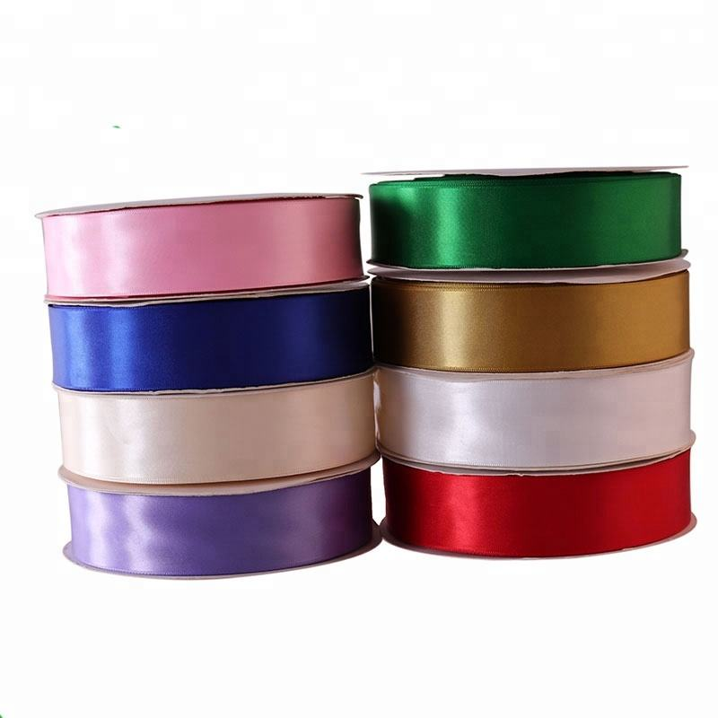 Wholesale Packing Gift Solid Color Satin Ribbon 1-1/2 Inch Single Face High Quality Ribbon Satin Polyester