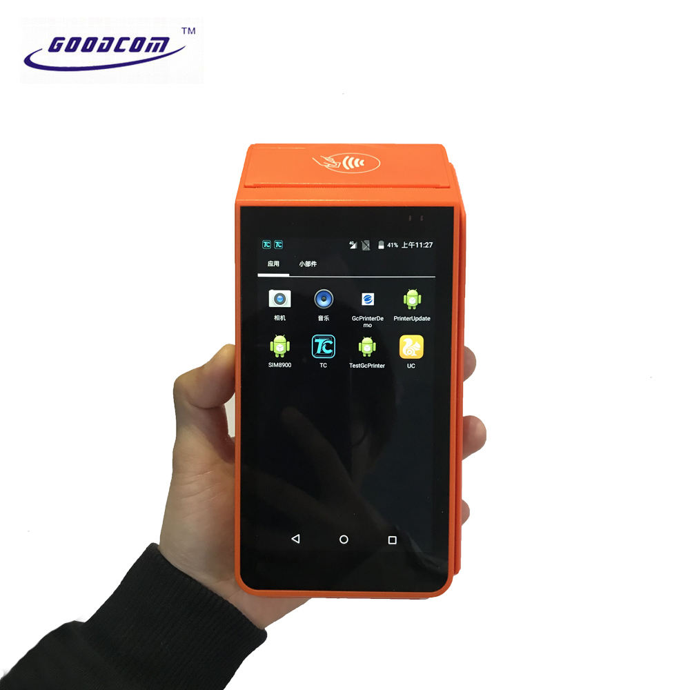 Free SDK Handheld Android NFC Reader Bus Ticket Pos Terminal Printer