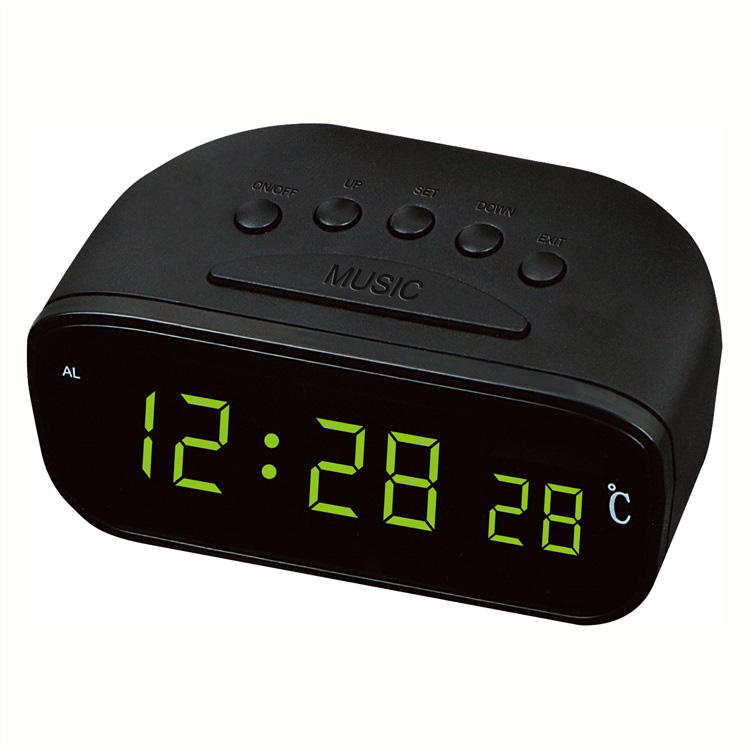 New Style Classic Fm Alarm Clock Radio For Car