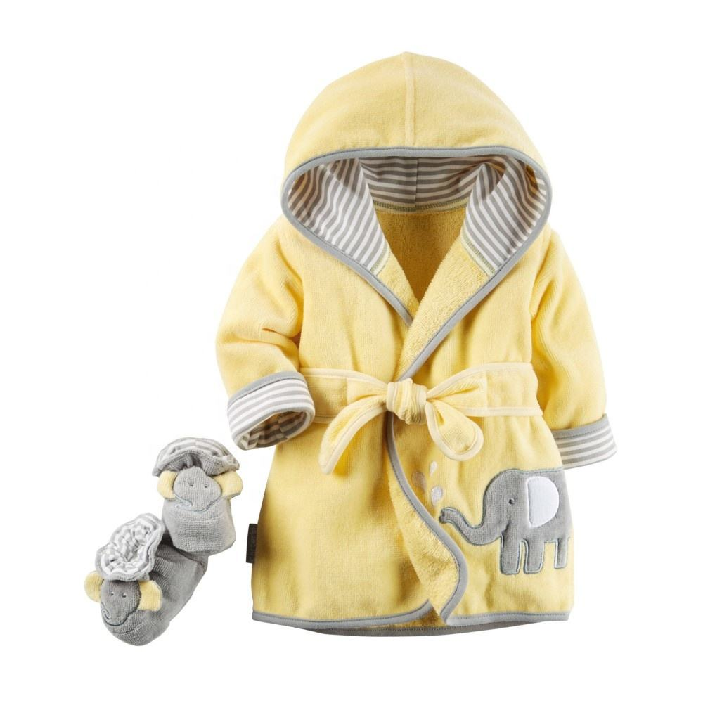 cuate animal design baby bathrobe baby hooded bathrobe wholesale