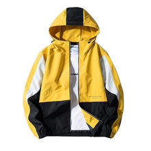 Windbreaker Men Casual Spring Autumn Lightweight Jacket 2019 New Arrival Hooded Contrast Color Zipper up Jackets Outwear