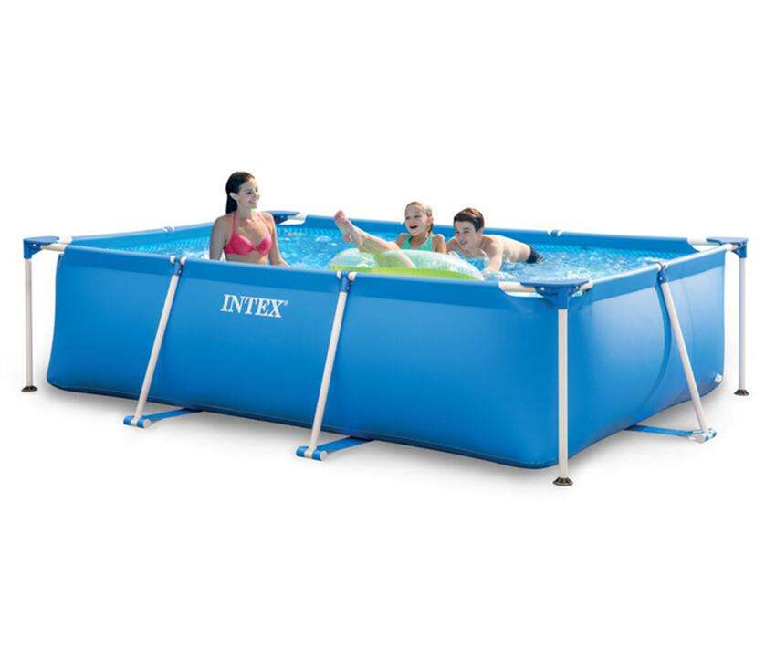 INTEX 28273 4.5M X 2.2M X 0.84M Rectangular Frame Above Ground Family Use Swimming Pool