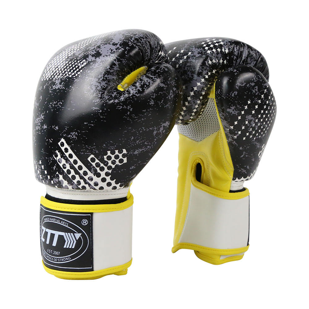 hot new products for wholesale bulk high quality design your own winning PU printed boxing gloves