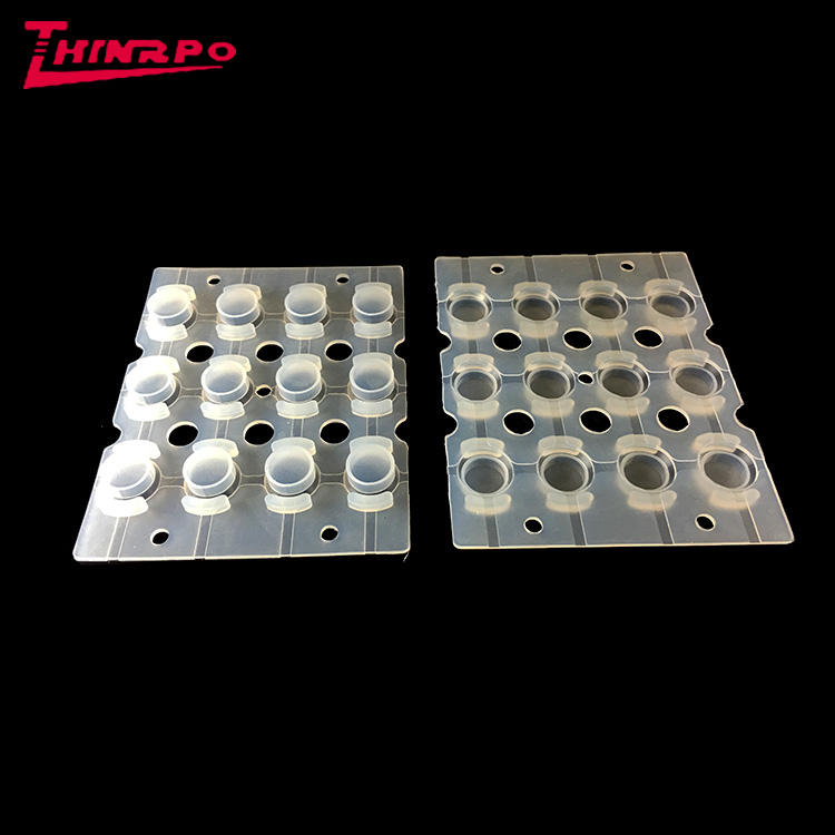 Customized high abrasion resistance silicone rubber push button covers clear transparent silicone easy touch keypads