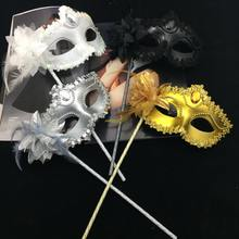 YM-045 Yiwu Caddy Latest new design fashion party eye mask wholesale masquerade masks with stick