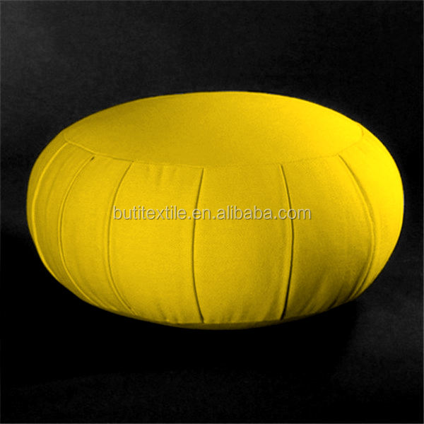 2020 new Circular pillow Solid color 100% cotton canvas patchwork indoor Round zafu meditation cushions