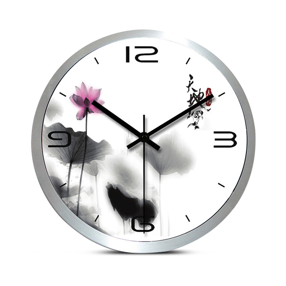 Preciser Modern Wall Clock Silent Quartz Metal Wall Art Lotus Europe Style Watch