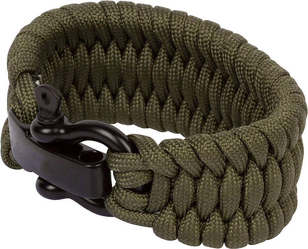 New Military O Shape Button Survival Kits 550lb Paracord Bracelet Most Popular Outdoor Survival Equipment for Sale