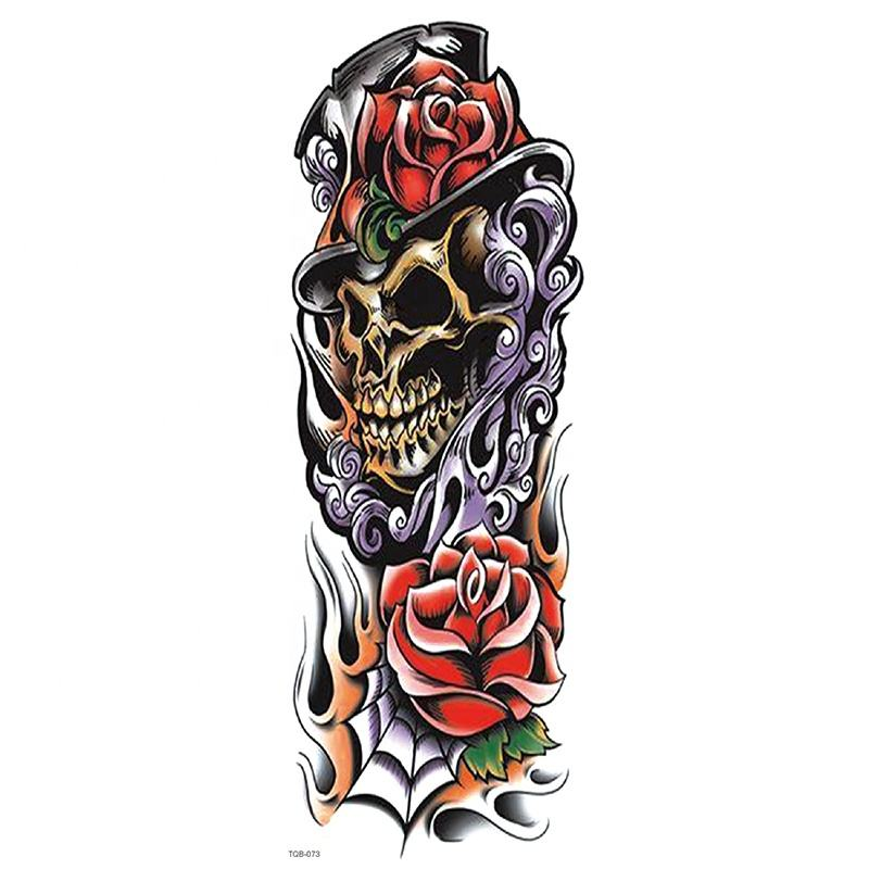 TQB073-TQB100 100 designs full arm temporary tattoo stickers China supplies body temporary full sleeve tattoo stickers