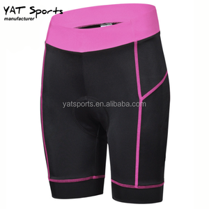Low MOQ bicycle clothing nylon spandex quick dry moisture wicking Lycra fabrics gel padded Custom Cycling Shorts
