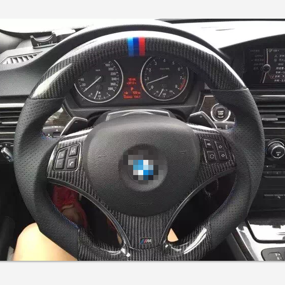 For BMW 100% Real Carbon Fiber Steering Wheel For BMW E92 E93