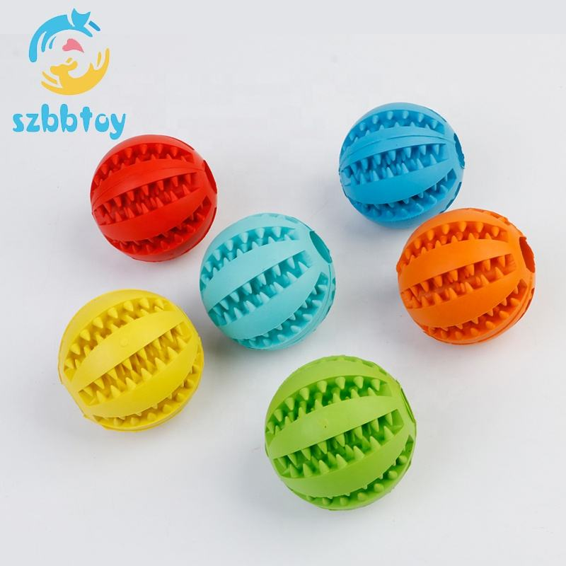 Pet Toy Rubber Ball Chew Toys Tooth Cleaning Leakage Food dog Toys