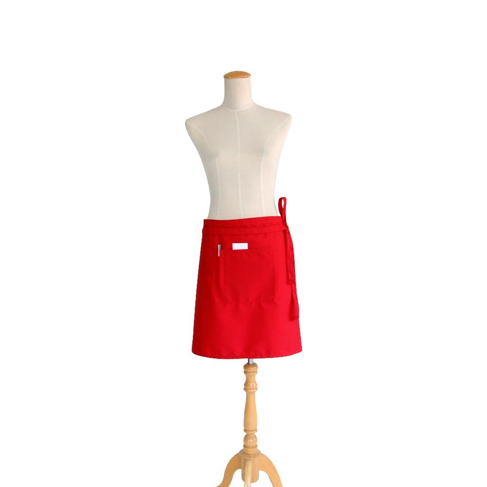 2020 hot selling polycotton waist apron cute waist apron barmaid half apron