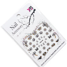 butterfly foil print 3d nail art decoration nail decals