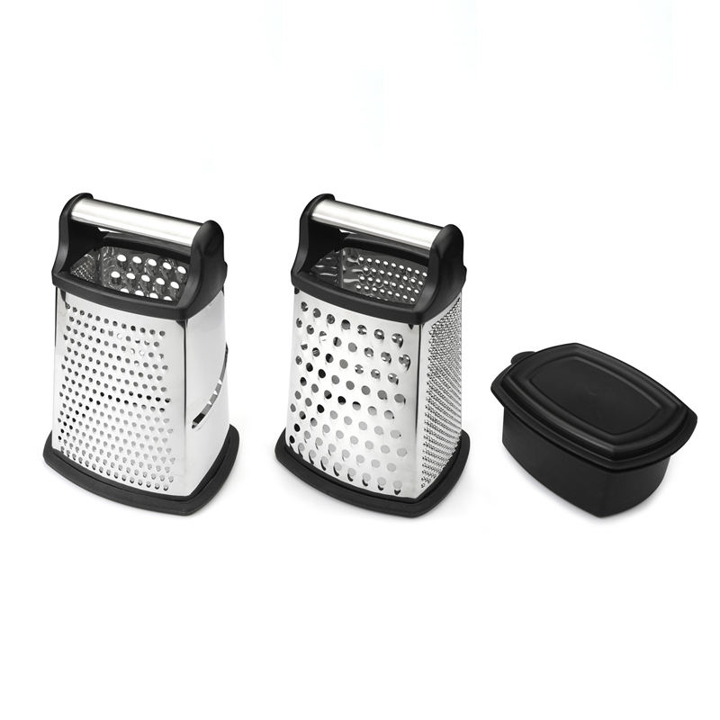 LFGB Standard Premium 4 Side Coconut Cheese Grater With Plastic Container