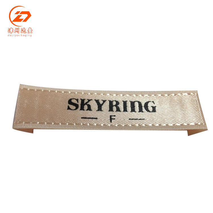 Custom Garment Woven Fabric Tags Personal Labels Maker Woven Loop Fold Label