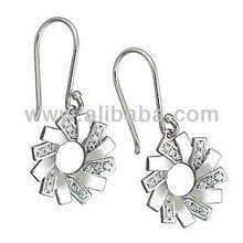 925 Sterling Silver Earring With Cz Stone