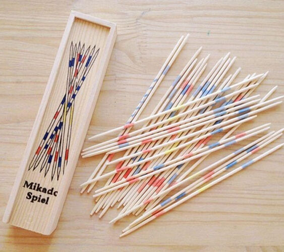 18 Cm Lange Houten Traditionele <span class=keywords><strong>Mikado</strong></span> Spiel Pick Up Sticks Met Doos Game