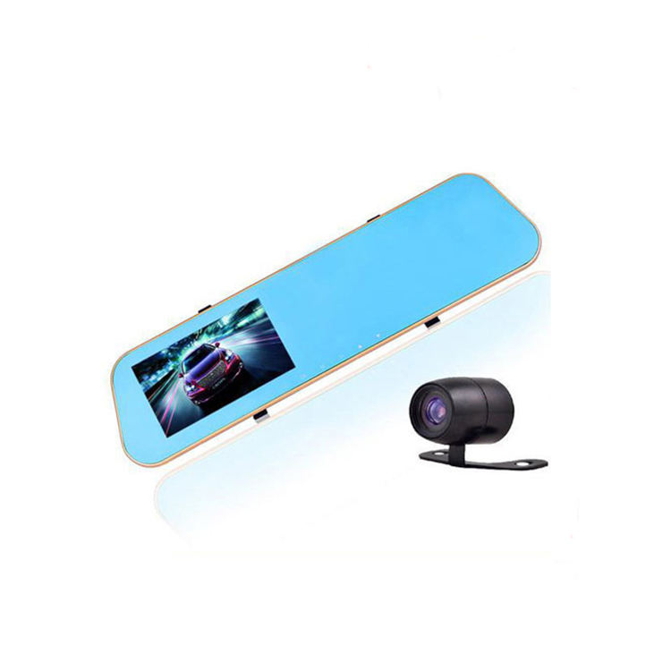 HD 1080P Dual Lens 4.3 Inch car Rearview Mirror camera Vehicle Blackbox DVR