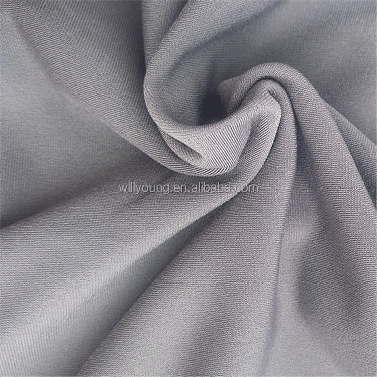 brushed polyester spandex fabric 85 polyester 15 spandex sportwear wholesale