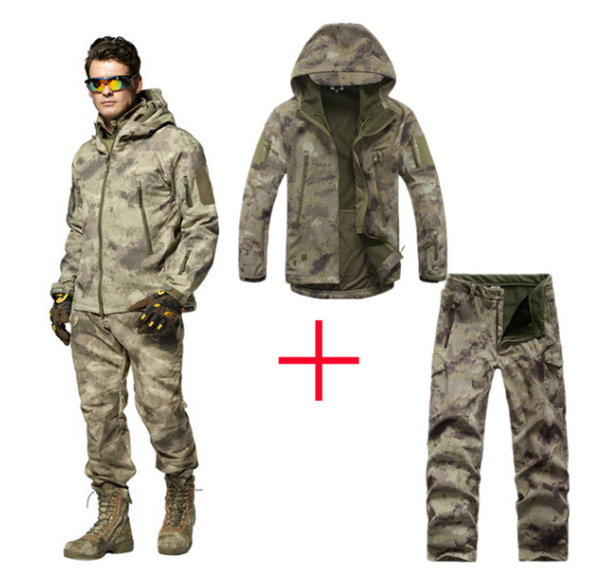 Man Fleece tad Tactical Softshell Jacket Outdoor Polartec Thermal Sport Polar Hooded Coat Outerwear Army Clothes Jackets