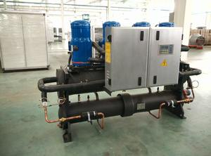 Centrial ac chiller air dengan pompa panas