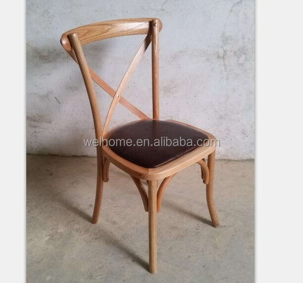 High Quality Oak Wooden Cross Back Chair for sale