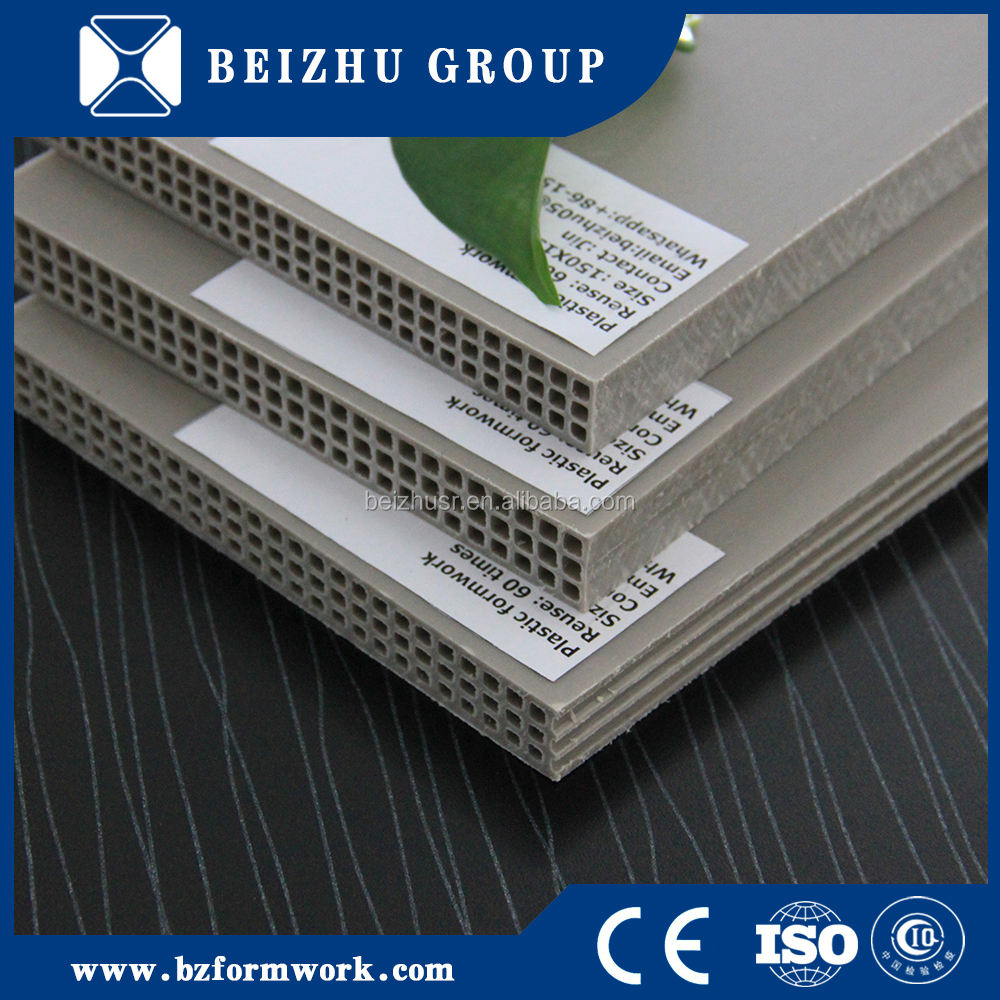 Recyclable Plastic Construction Formwork Beizhu Group New Design Construction Real Estate Use Recycle Hollow Plastic Formwork With Factory Price