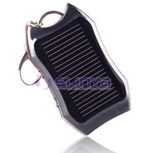 Solar Power 3 LED Keychain Light Mini Outdoor Solar Flashlight