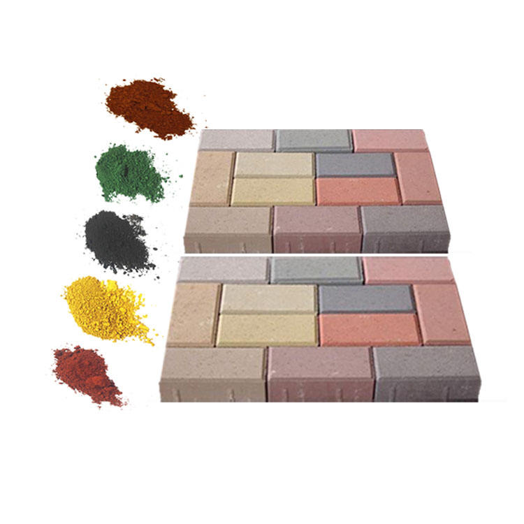 Red/Yellow/Green/ Blue/Grey Colors Colorant Pigment Fe2O3 Iron Oxide for Brick, Blocks, Cement, Paving