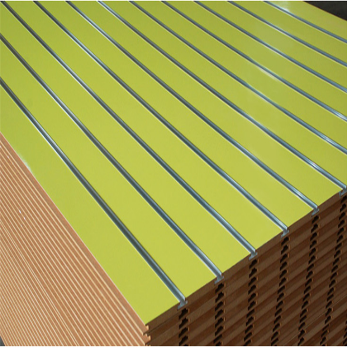 Direct factory high quality melamine faced slatwall mdf board