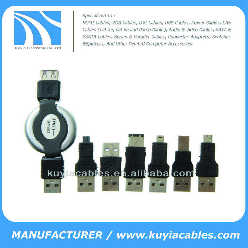 6 in 1 USB To Firewire Adapter IEEE 1394