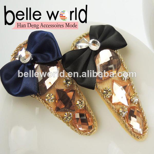 pinces à cheveux papillon 5cm décoration en cristal