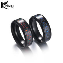 Latest carbon fiber stainless steel finger ring for men's jewelry