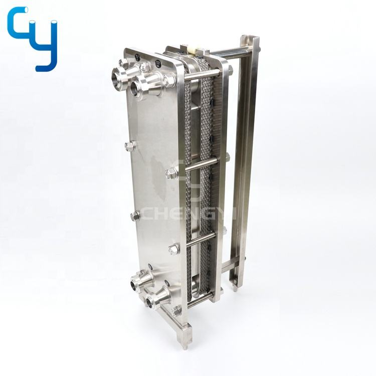 Professional manufacturing sanitary stainless steel 304 316L plate heat exchanger