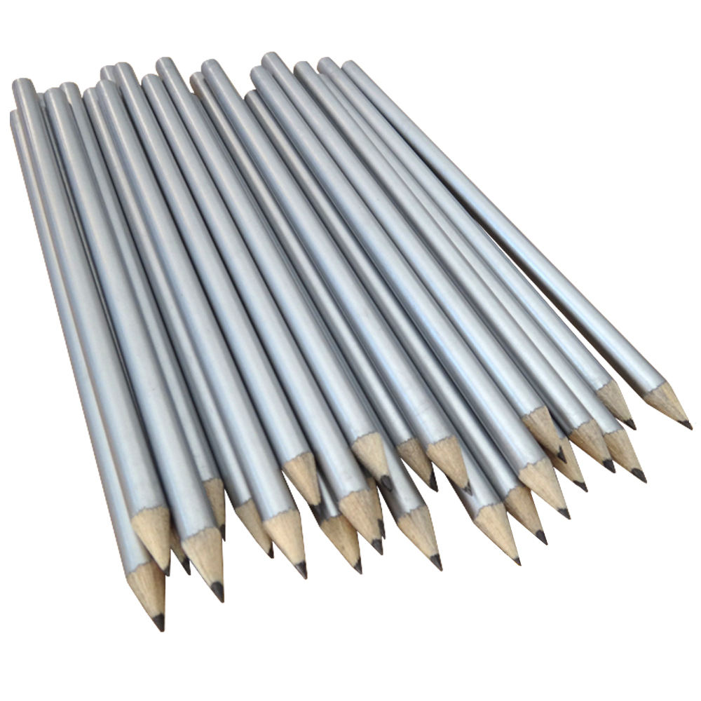Cheap Wholesale Pensils Silver Natural Wood Pencils