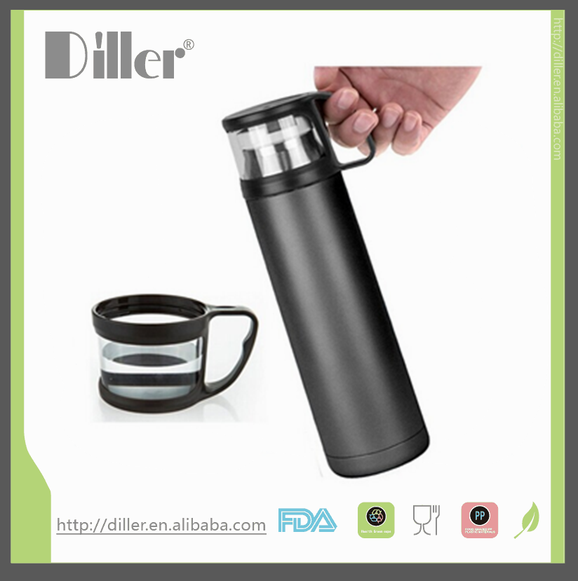 stainless steel private label vacuum flask thermos with logo printing