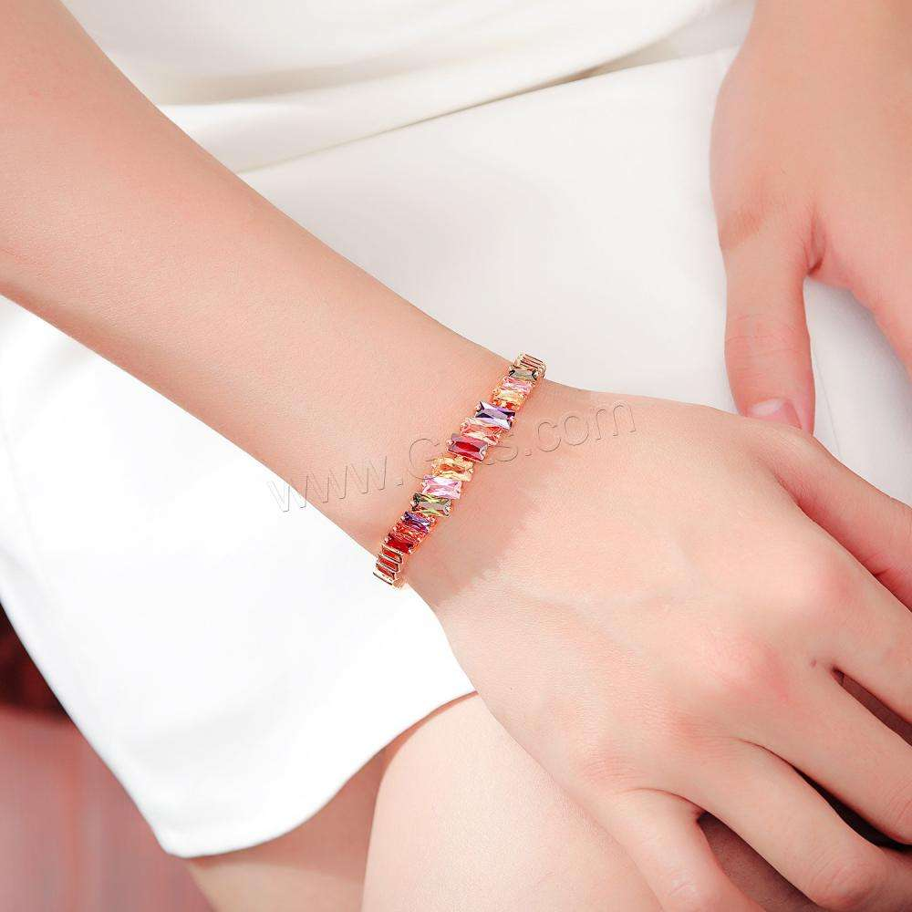 Rhinestone brass Bracelets gold color for woman wholesale price 1314445