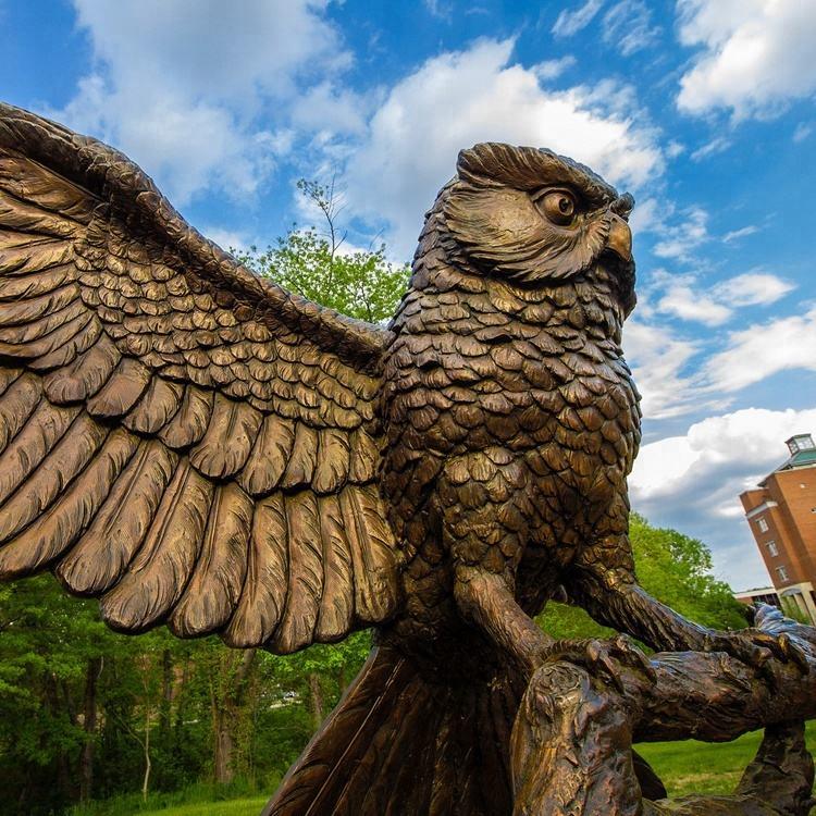 Jardín al aire libre famoso tallado artesanía de Metal de la vida Animal de tamaño de bronce búho escultura