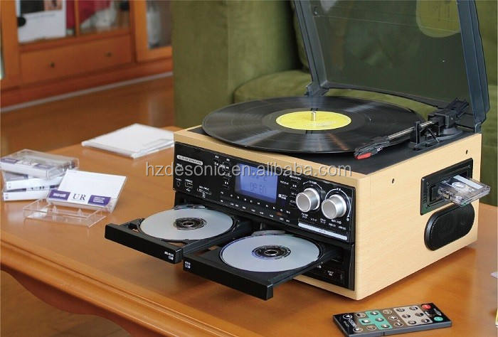 Hi-end home-cd-players with double cd,turntable for dj