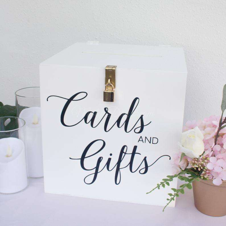 White acrylics box acrylic wedding storage box personalized Name wedding card box Event decoration