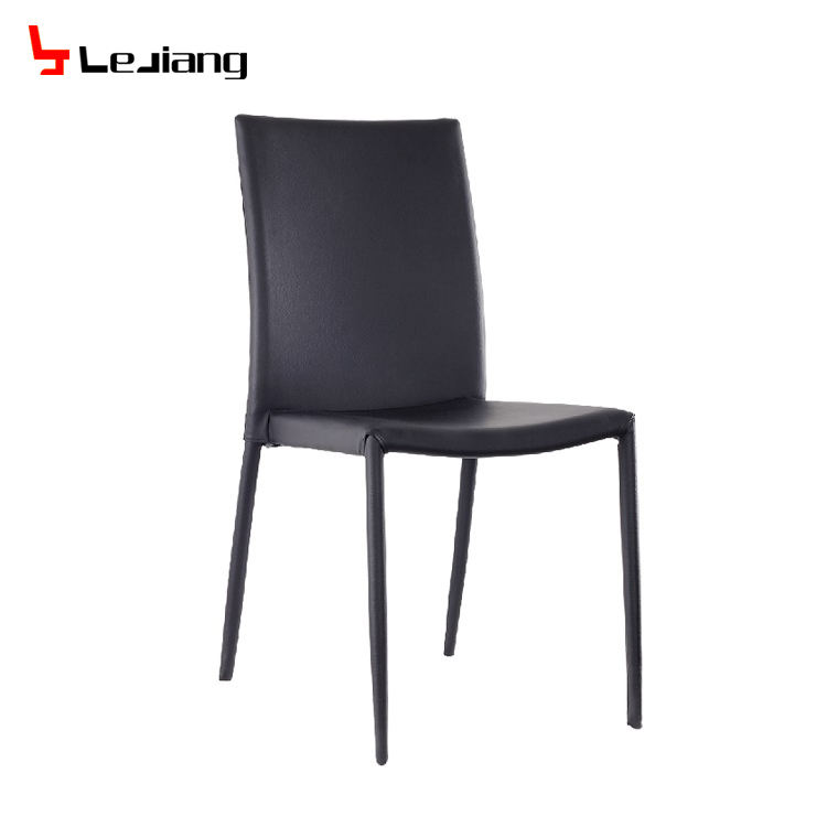 Free Sample Upholstered Ivory Buttoned Dinning Real -Pu High Quality Full Brown Tan Eco Grey Faux Leather Dining Chair For Hotel