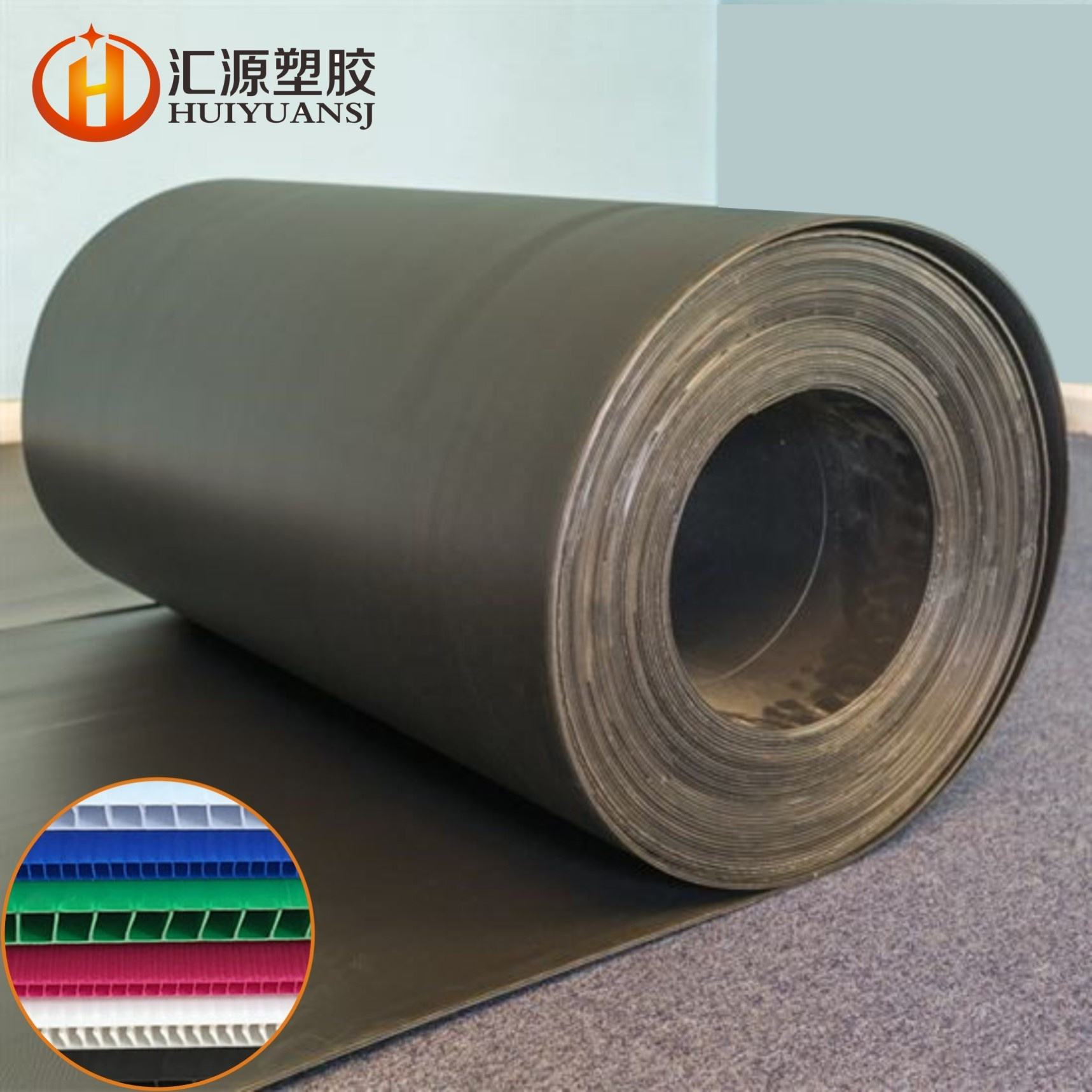 Wholesale New Material 3mm Black PP Flute Corrugated Plastic Floor Protector Protection Sheets Board
