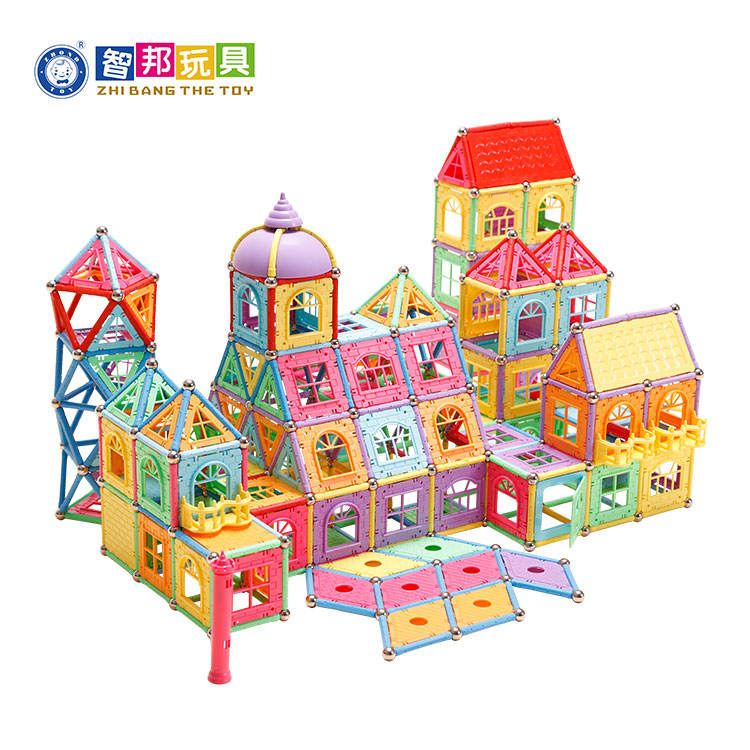 Educational Toys Distributors Preschool Intellectual Development Magnetic Plastic Building Blocks Construction Toys