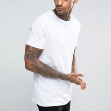 your own brand clothing white plain basic daily leisure wear t shirt men